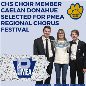 CHS Choir Member Caelan Donahue Selected for PMEA Regional Chorus Festival